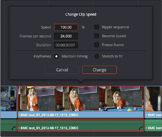 change clip speed