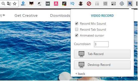 choose to tab record