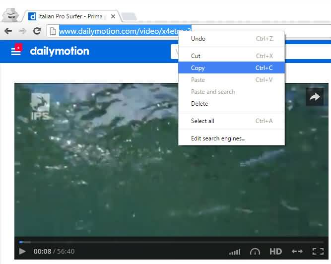 copy-browser-link-dailymotion-video