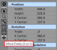 Select Move Freely icon from software window