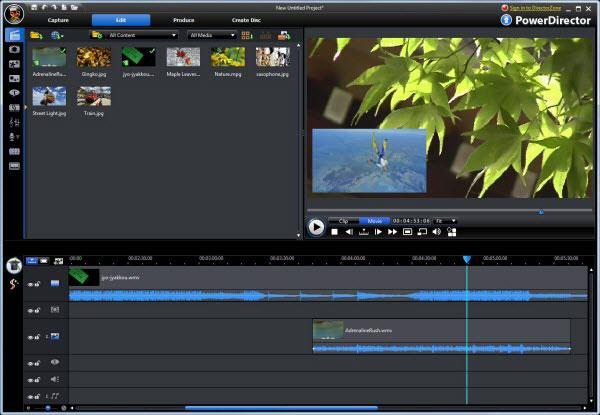 cyberlink powerdirector editor de vídeo 4K 2018