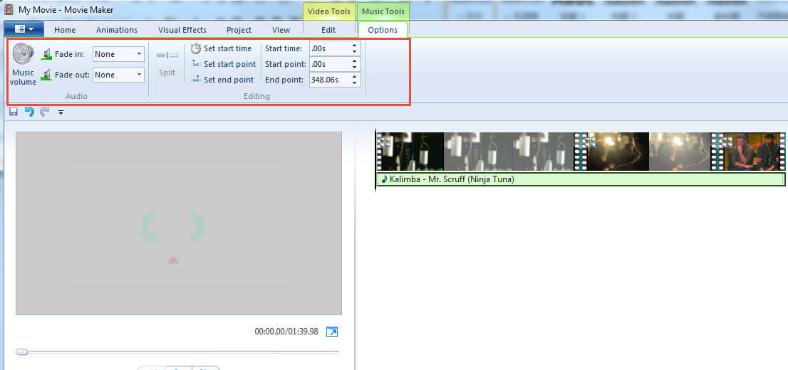 Editar musica en windows movie maker
