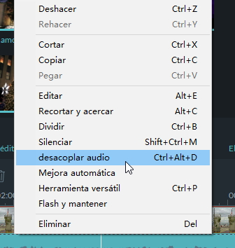 filmora-audio-detach