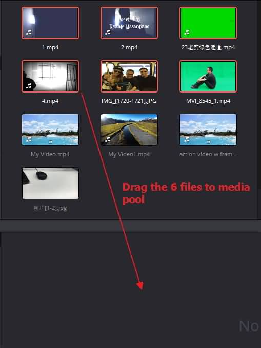 import multiple files DVR
