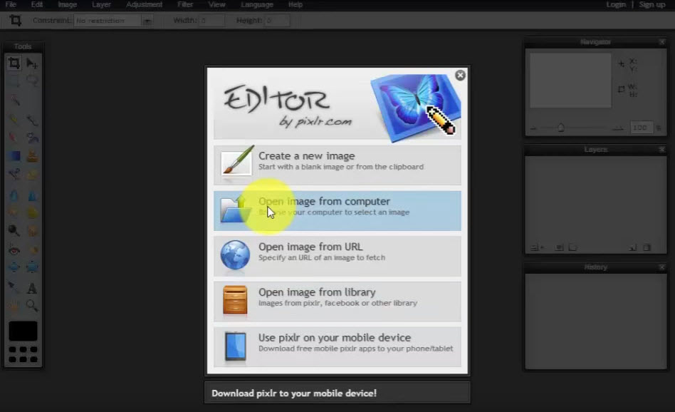 pixlr-create-new-image