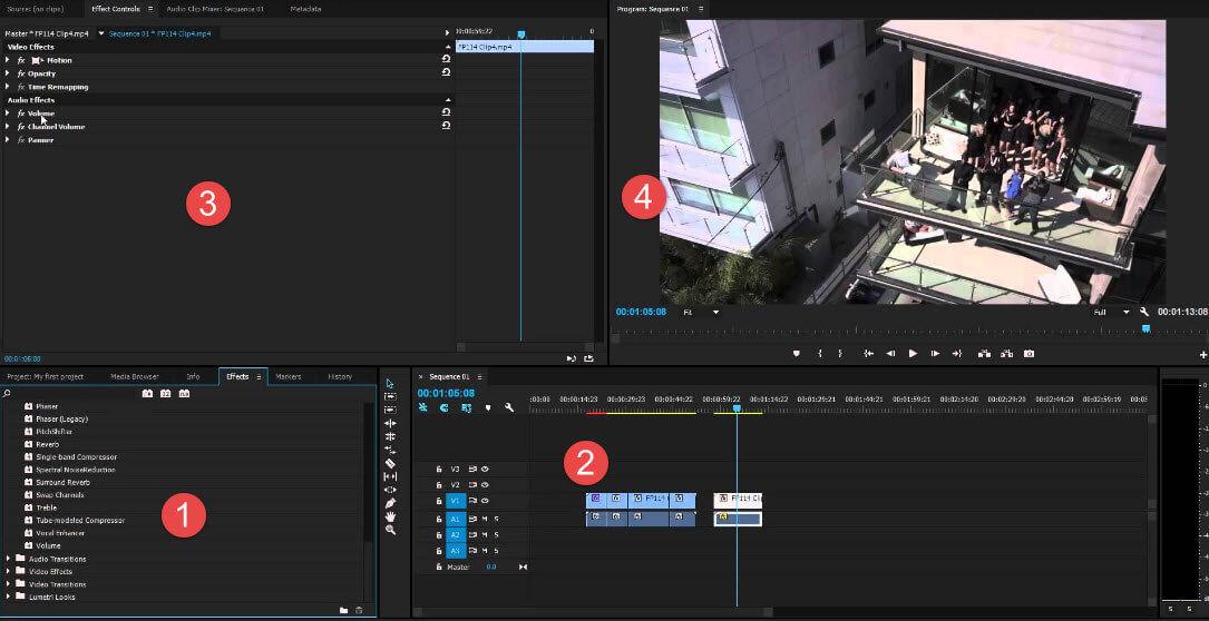 premiere pro frame panels