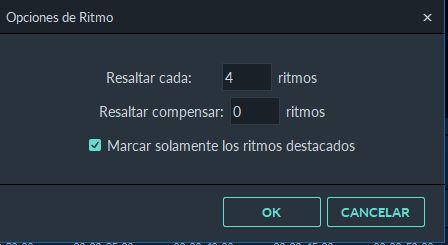 ajuste de marcador de ritmo en Filmora9