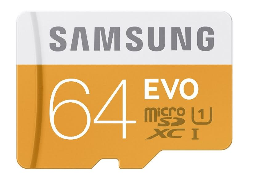 samsung evo 64gb micro sdxc memory card