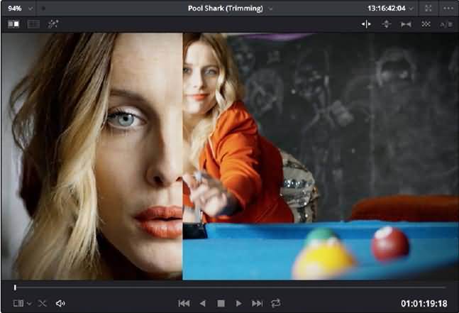 split screen using gallery