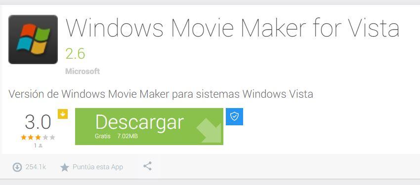 Descargar Windows Movie Maker 2.6