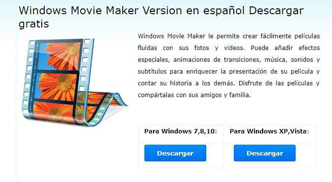 Descargar Windows Movie Maker