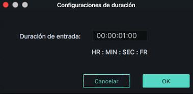Filmora Mac duration