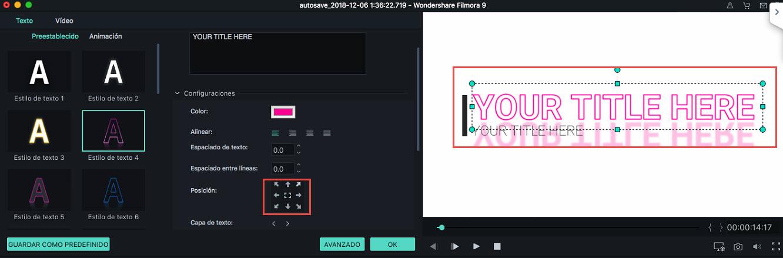 Filmora Mac add title effects