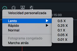 Filmora Mac change video speed