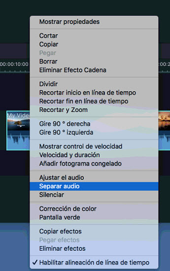 Separación de audio en mac
