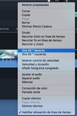 Filmora Mac rotate videos