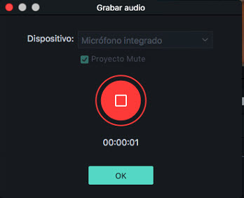 Filmora Mac record voiceover
