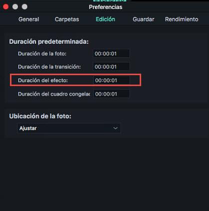Filmora Mac Title duration