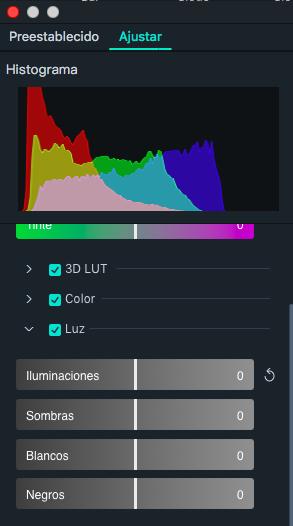 luz en filmora 9 para mac