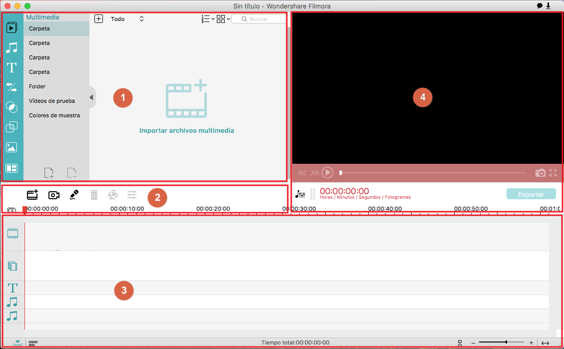 Wondershare Filmora para Mac de un Vistazo