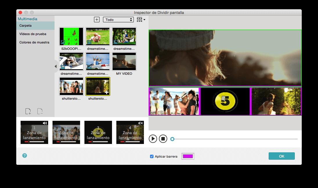 split screen/multiscreen video