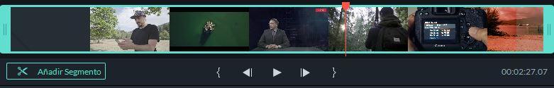 Añadir segmento en Filmora 9