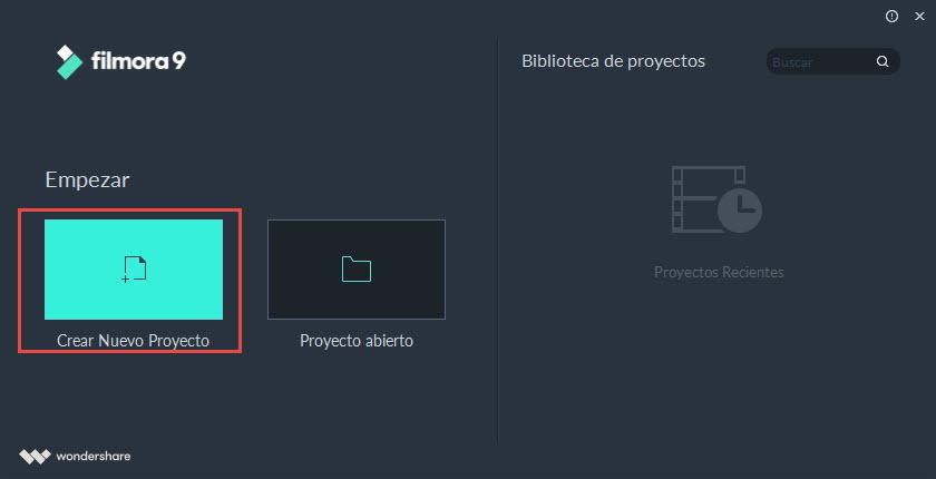 crear un video en Filmora