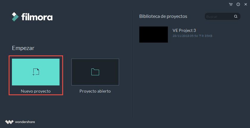 improtar archivos a Filmora