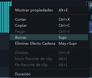 eliminar filtros versión Filmora9