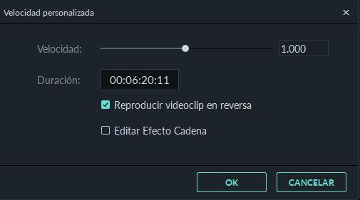 video invertido de la barra de herramientas en la versión 9.0 de filmora