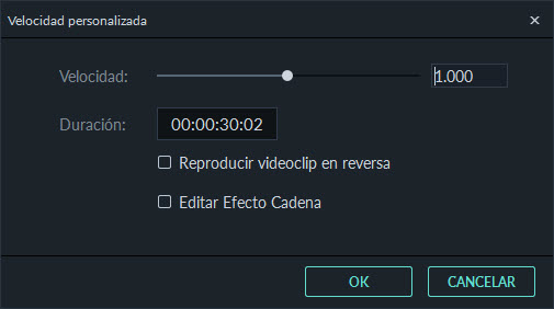 video speed interface