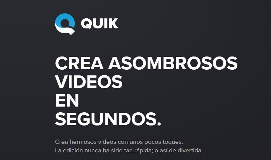 quick-aplicación para hacer vídeo