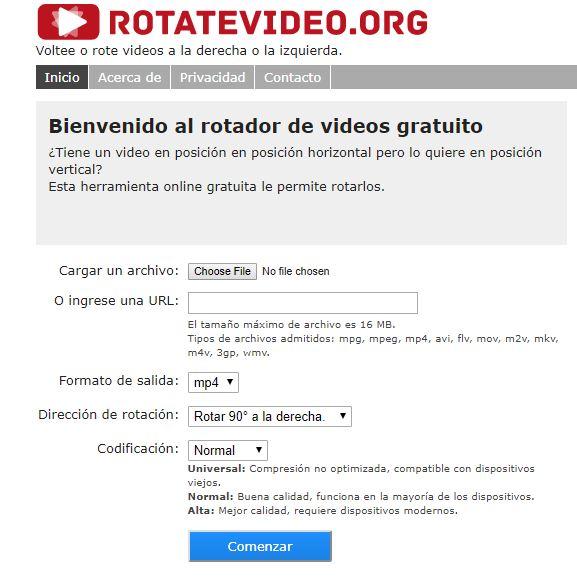 rotador de video