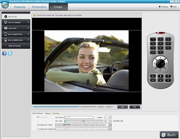 convert photos to video/DVD