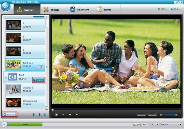 interfaz de la alternativa a windows dvd maker para windows xp