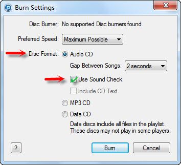 burn Spotify to CD