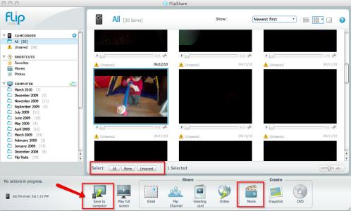 using flip video software