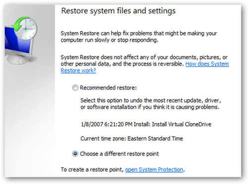 Restauración de Sistema – ¿Elimina archivos?
