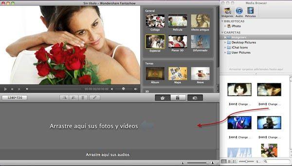 Alternativa a Windows Movie Maker para Mac - Creando películas fantásticas