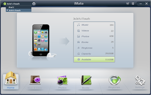 transfer eBooks from iPhone to iTunes