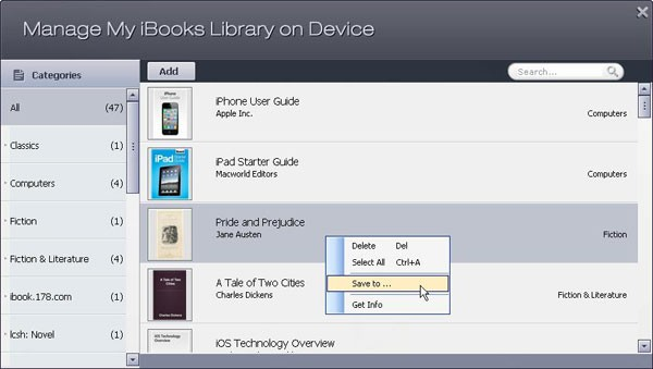 backup eBooks to iTunes