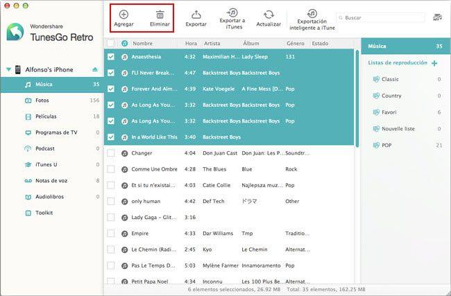 Selección de formato de salida compatible con el iPhone en el conversor MP4 a formatos de archivo compatibles con iPhone