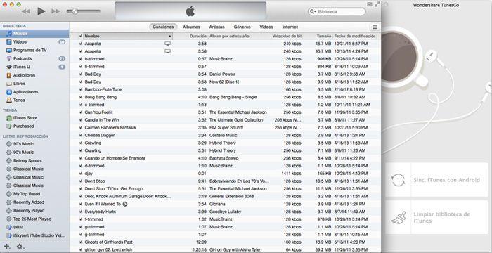 Sincronizar iTunes con Android en 1 clic