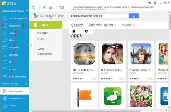 manage android photo manager app