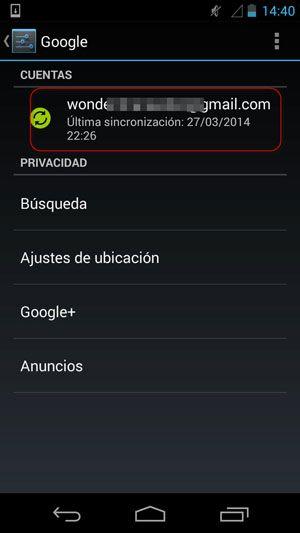transferir contactos desde Android al ordenador