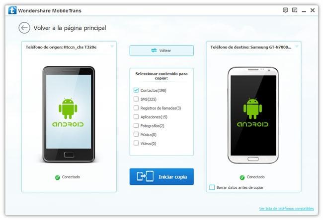 aplicaciones android para pasar contactos