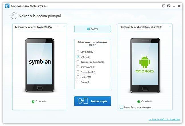 SMS de Nokia a Android