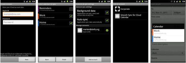 transferir Calendario iCloud hacia Android