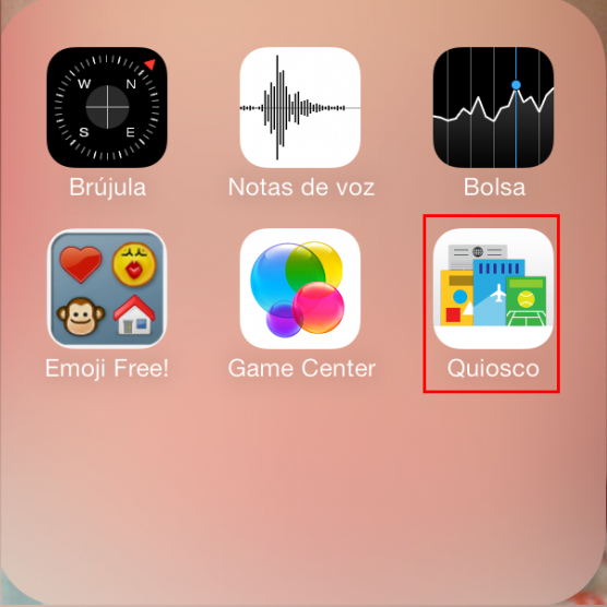 eliminar quiosco en iPhone
