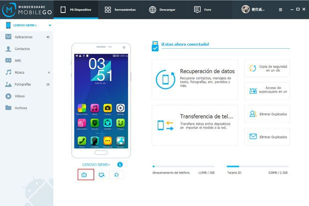 screen capture on android